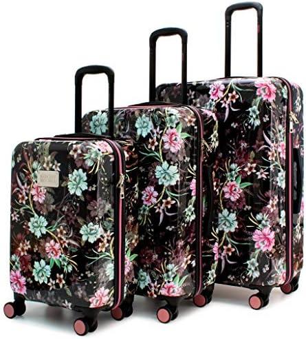 BADGLEY MISCHKA Essence 3 Piece Hard Spinner Luggage Set Winter Flower