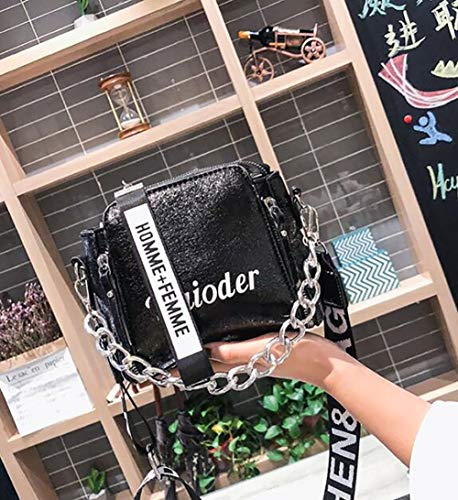 Bandoulière Eshoping À Double Black tout Tote Messenger Femme Imprimer Sac Color Fourre Pour Zipper wqpwSnrxX