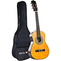 HUAWIND Classical Guitar Beginner Nylon Strings Acoustic Guitar Natural Gloss Bundle with Gig Bag (30 inch)