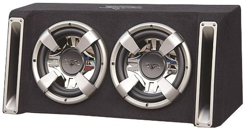 Lanzar VCHB212 Vector 2400 Watts Dual 12-Inch Slim Designed Bass Box Enclosure