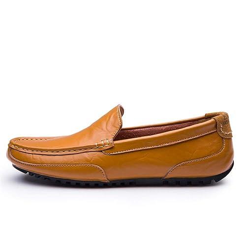Mocasines de conducción para Hombre Mocasines de Cuero Informal Suela Suave Color sólido Ocio Ocio Zapatos para Hombres: Amazon.es: Zapatos y complementos