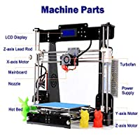 GUCOCO Update Desktop A8 3D Printer, DIY 3D Printer Kits High Accuracy Self-Assembly DIY Personal Portability 3D-Printers 220 220 240mm Print Size (A8 Wooden-3D Printer) by Printrbot Inc