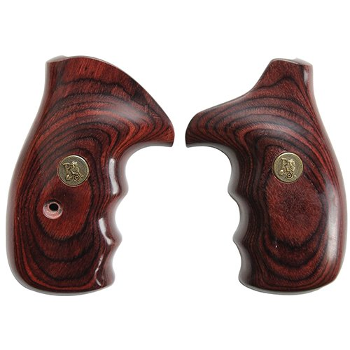 Pachmayr 63030 Renegade Wood Laminate Pistol Grips, Smith & Wesson K&L Frame, Rosewood, Smooth ()