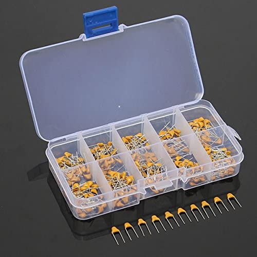 ILS 300 pieces 10 Values 50V 10pF To 100nF Multilayer Ceramic Capacitor Assortment Kit 30 pieces Each Value