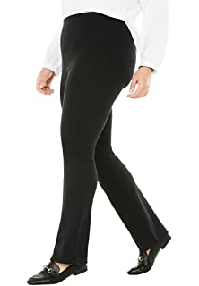 98c9984db9b Woman Within Plus Size Tall Straight Leg Ponte Knit Pant at Amazon ...