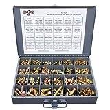 Metric Class 8.8 Hex Cap Flange Frame Bolts & Flange Nuts Assortment Kit - 429 Pieces!