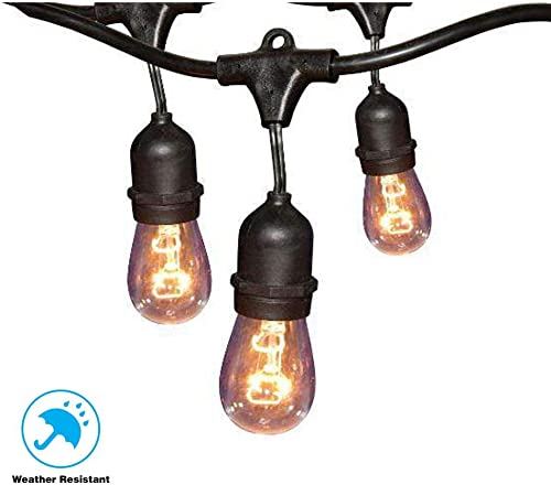 Hampton Bay 24 ft. 12-Light Filament LED String Light