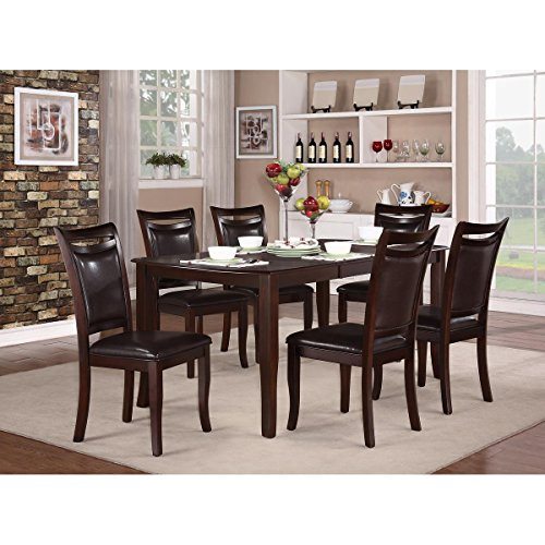 Marcos 5 Piece 54-72 inch Dining Set in Dark Cherry - Table, 4 Chairs