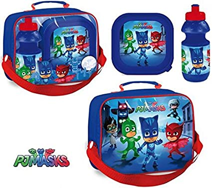 Disney Junior PJ Masks Picnic Pack Lunch Bag Small Lunch Box Water Bottle