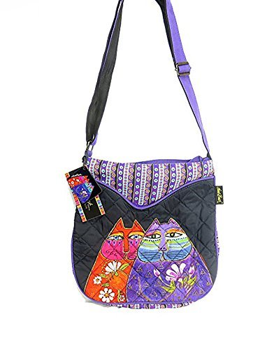 - Laurel Burch Quilted Cotton Crossbody -