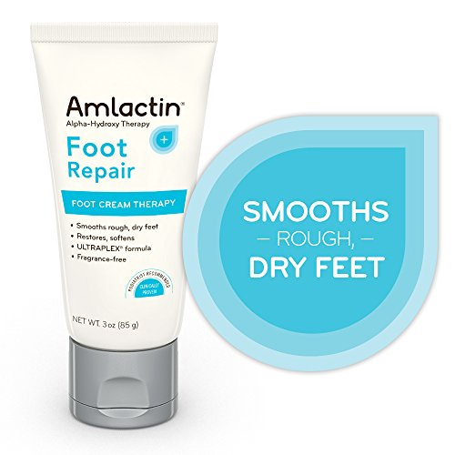 AmLactin Foot Repair Foot Cream Therapy | Smooths Rough, Dry Feet | Powerful Alpha-Hydroxy Therapy Gently Exfoliates | Lactic Acid (AHA) | Softens Tough, Dry Skin