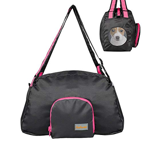 ECCRIS Foldable Pet Carrier Handbag Duffle Travel Bag with Breathable Mesh Window (Sport Duffle Pet Carrier)