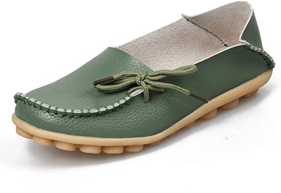 New Women/'s Loafers Breathable Lining Slip-on Shoes Ladies Outdoor Leisure Flats