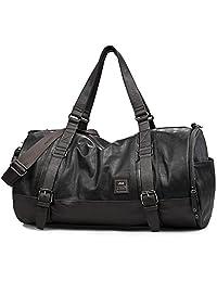 UIYI Mens Leather Sports Gym Totes Yoga Mat Handbag Shoulder Bag 140085