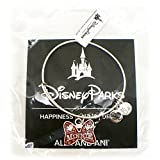 Disney Parks Alex and Ani Jewelry Gift - I Am Mickey Mouse Red Short/Minnie Mouse Red Bow Ribbon Bangle Bracelet - Silver (Minnie)