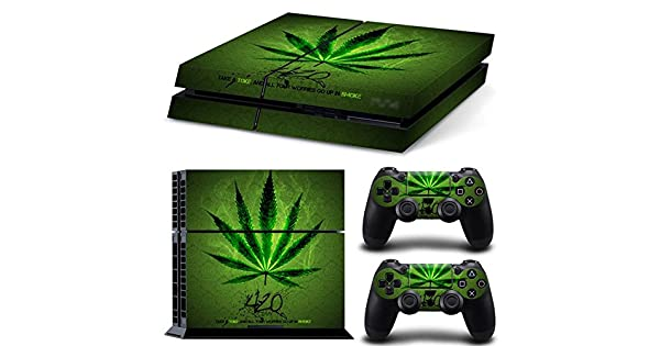 XboxOne X XOX Sticker Vinyl GoldenDeal Xbox One X Console and Wireless Controller Skin Set Weed 420
