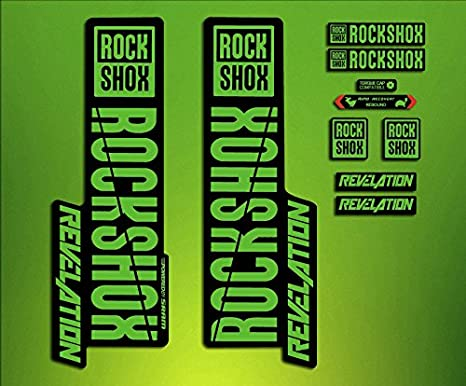 Rock Shox REVELATION 2018 Fork Decal Mountain Bike Cycling Sticker Green