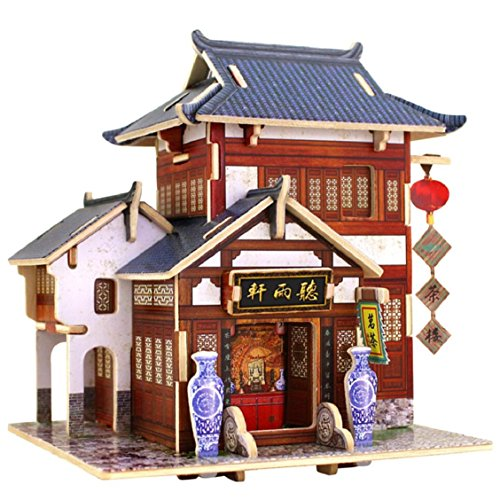 Naladoo Christmas Themed Model Greenhouse DIY Christmas Gift DIY Wooden Hand Assembled House Furniture Handcraft Miniature Box Creative Gift 3D Puzzle Educational Toy (Model 3 Greenhouse)