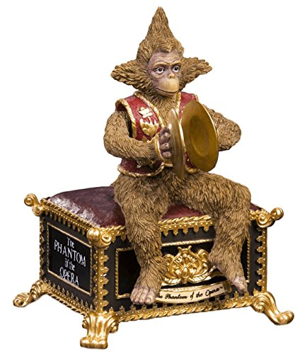 THE SAN FRANCISCO MUSIC BOX COMPANY Phantom of the Opera Musical Monkey Figurine (Box The Phantom Music Monkey Of Opera)