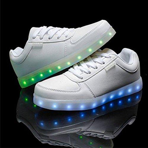 (Presente:pequeña toalla)JUNGLEST USB Carga de la Zapatilla Zapatillas de Deporte Con 7 Colores de Iluminación LED Intermitente Para los Amantes de N c8