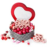 Valentines Love Candy Gift Basket Pack – Valentine Day Heart Tin Filled with a Mix of Gourmet Treats Unique Baskets – Oh! Nuts