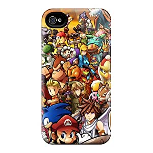 Iphone 4/4s IbC8242BesQ Allow Personal Design High-definition Super Smash Bros Wii Skin Perfect Hard Phone Cover -Marycase88