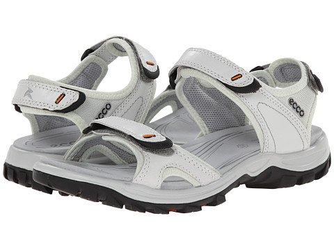 泥だらけなかなかサリー(エコー) ECCO レディースサンダル?靴 Offroad Lite Sport White/Shadow White US Women's 7-7.5 n/a B - Medium [並行輸入品]