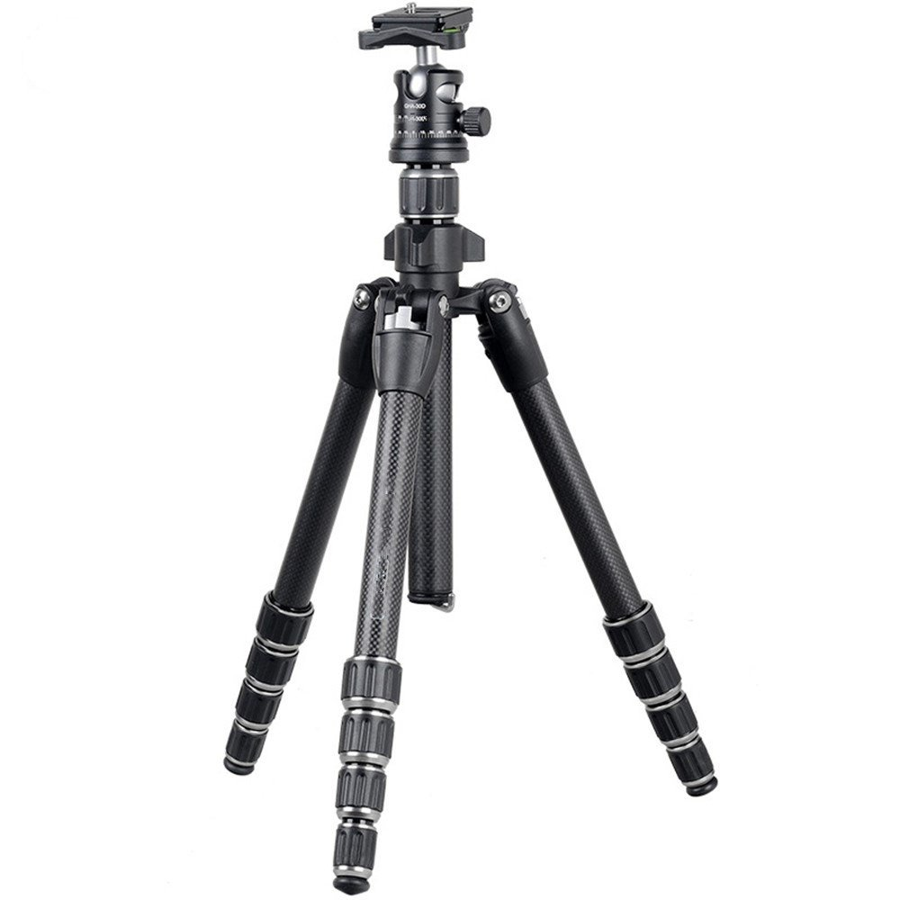 Portable Carbon Fiber SLR Camera Tripod, Outdoor Travel Tripod, PTZ Panoramic Shooting Bracket by ZQ