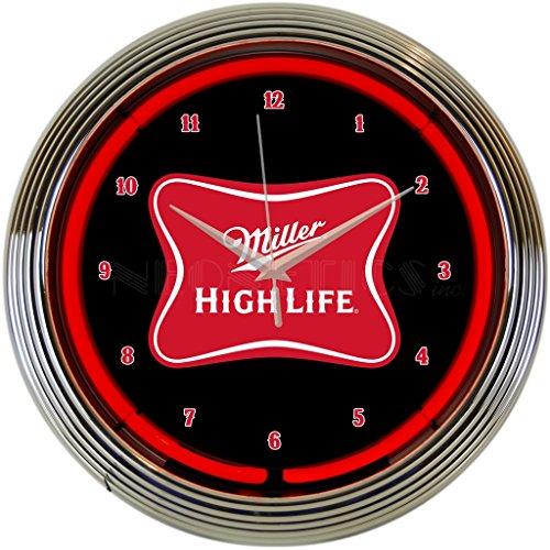 ler High Life Beer Neon Clock ()