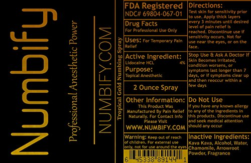 Numb-ify Numbing Spray – Professional Strength Anesthetic Power (2 Ounce) Multipack by Numbify (Image #1)