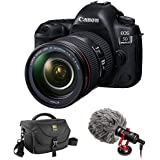 Canon EOS 5D Mark IV DSLR Camera with 24-105mm f/4L II Lens plus BY-MM1 Shotgun Video Microphone and Journey 34 DSLR Shoulder Bag