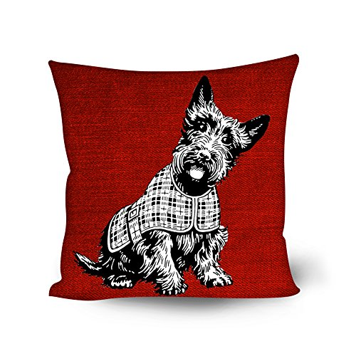 Bigcardesigns Schnauzer Cushion Cover Case for 18 Inch Sofa Cushion ()