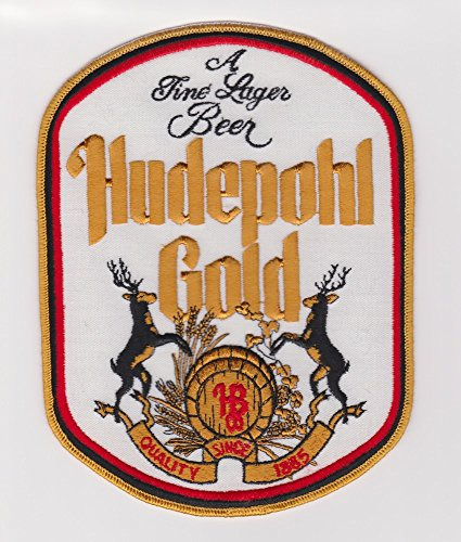 Hudepohl Brewing Company Hudepohl Gold A Fine Lager Beer Patches - Set of Two (Beer Hudepohl)