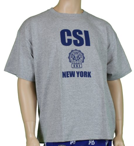 CSI New York Crime Scene Tee Investigation T-Shirt Gray Xl