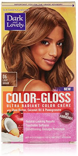SoftSheen-Carson Dark and Lovely Color-Gloss Ultra Radiant Color Crème, Light Brown 06 -  9851761159