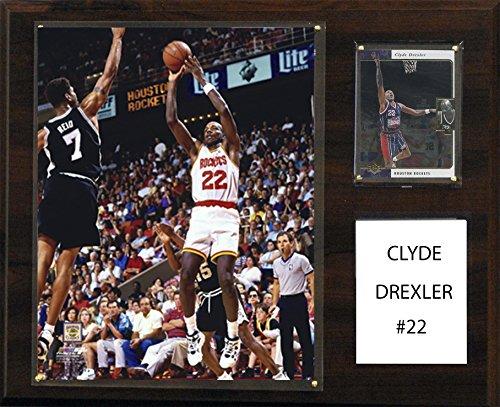 NBA Houston Rockets Clyde Drexler Player Plaque, 12 x (Clyde Drexler Nba)