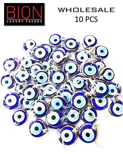 Bion, Gold - Silver Evil Eye Glass Beads, 1.7