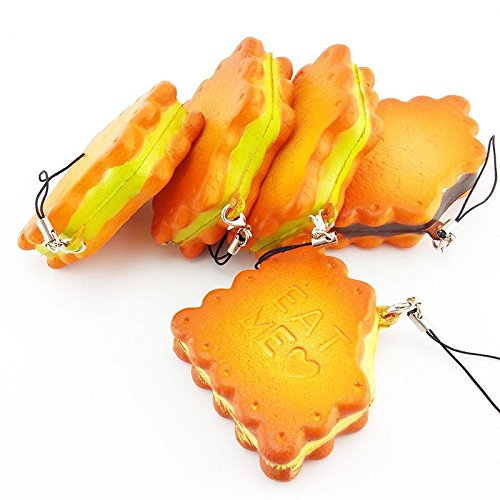 Simulation Sandwich biscuits Eat Me Squishy Kawaii Cell phone Charms Straps PA42