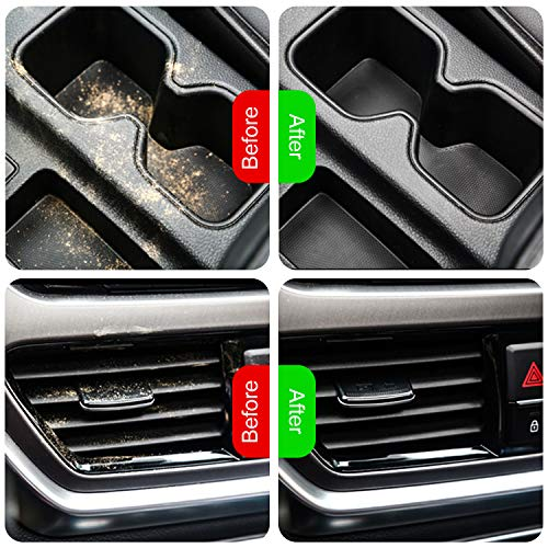 DeveSouth Magic Cleaning Gel Car Mud Detailing Clean, Car Interior Cleaner Automotive Dust Air Vent Crevice Putty Detail Powder Removal Recyclable Gel Cleanup for Laptop Electronic Device(2Pack)