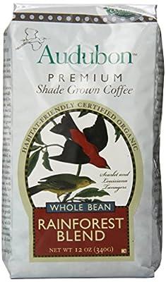 Audubon Whole Bean Coffee, Rainforest Blend, 12 Ounce (Pack of 3)