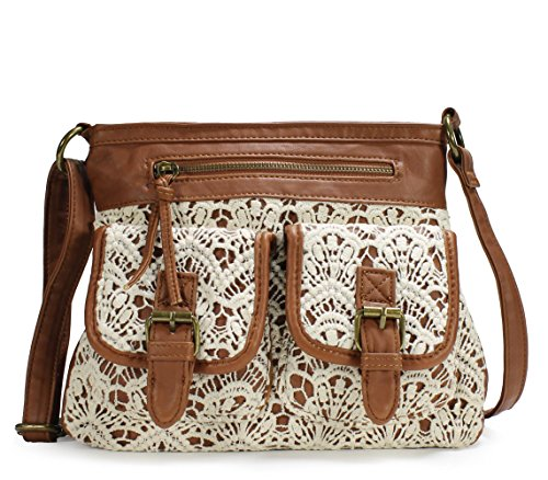 Lace Leather Tote (Scarleton Fashionable Lace Style Crossbody Bag H190604 -)