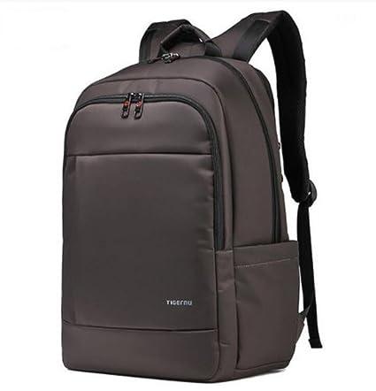 720e0750d402 Tigernu Laptop Rucksack 17 inch Laptop Waterproof Resistant Anti-Theft Zip  School Business Backpack Bags (Coffee)  Amazon.co.uk  Luggage