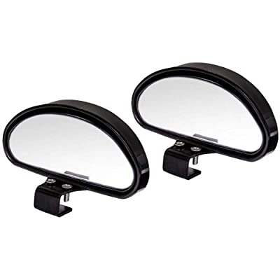 WildAuto Blind Spot Mirrors, Adjustable Car Auxiliary Universal Wide Angle Mirror for Universal Cars (Black-2pcs): Automotive