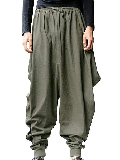 Amazon.com: AKARMY - Pantalón para hombre de pierna ancha ...