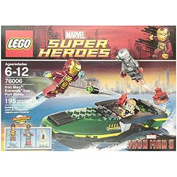 Amazon com: LEGO Super Heroes Iron Man Malibu Mansion Attack (76007