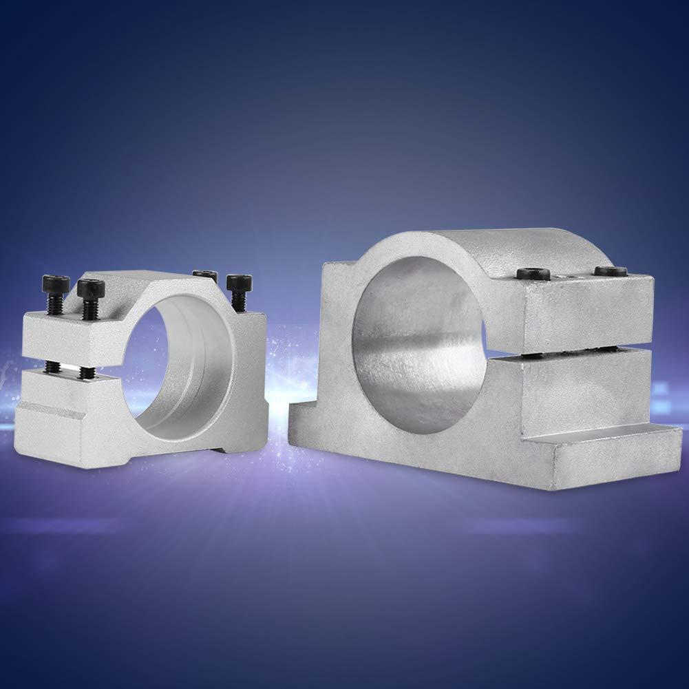 Motor Bracket Clamp 52//65mm Cast Aluminium Spindle Motor Mount Bracket Clamp for CNC Engraving Machine 52MM