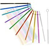 California Straw Rainbow Colored Replacement Acrylic Straw Set of 10, for 16oz Tumblers