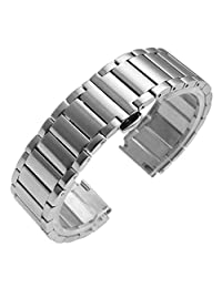 Watch Band, iitee Stainless Steel Link Replacement Watch Band For Huawei Smart Watch (silver)