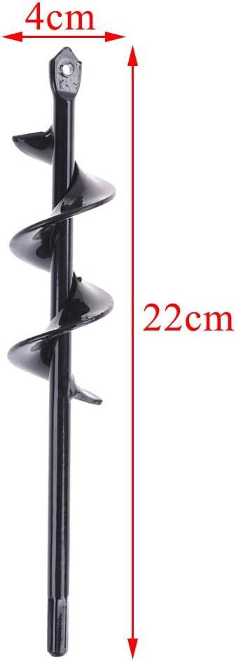 WWahuayuan 2 Pcs Steel Bedding Bulb Planting Augers Plug Auger 1.6x8.66 Spiral Drill Bit-Auger Drill Bit Non-Slip Flower Auger Rust-Proof Rapid Planter Hole Digger Bit for Hex Drive Driller Shaft