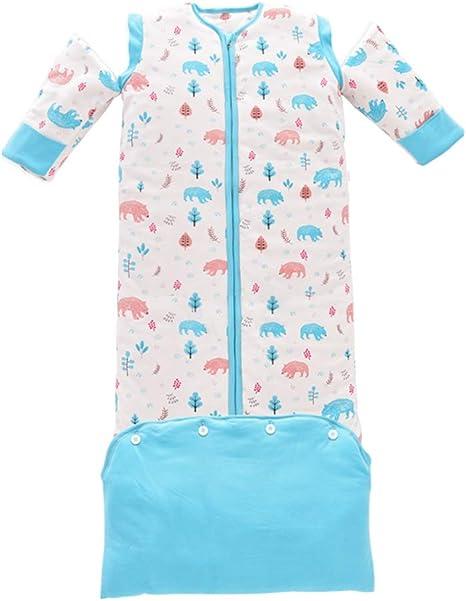 LNDD-Sacos De Dormir para Bebés Algodón Niños Swaddle Manta Alargar Mangas Desmontables Portátil Lavable En La Tacto Suave Unisexo,Azul,XL: Amazon.es: Deportes y aire libre